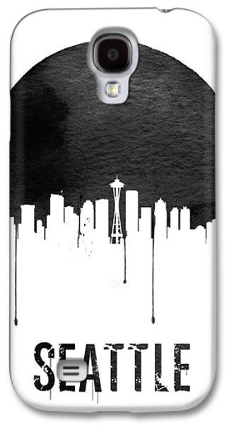 Seattle Skyline White Galaxy S4 Case by Naxart Studio
