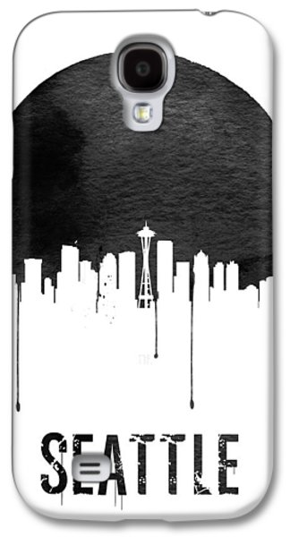 Seattle Skyline White Galaxy S4 Case