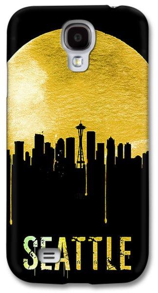 Seattle Skyline Yellow Galaxy S4 Case by Naxart Studio