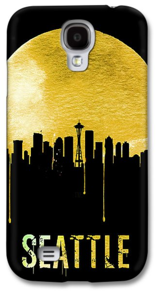 Seattle Skyline Yellow Galaxy S4 Case