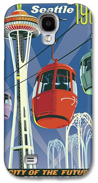 Seattle Space Needle 1962 Galaxy S4 Case by Jim Zahniser