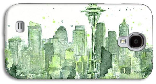 Seattle Watercolor Galaxy S4 Case
