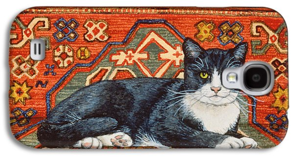 Second Carpet Cat Patch Galaxy S4 Case by Ditz