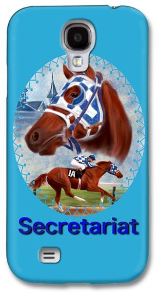 Secretariat Racehorse Portrait Galaxy S4 Case by Becky Herrera