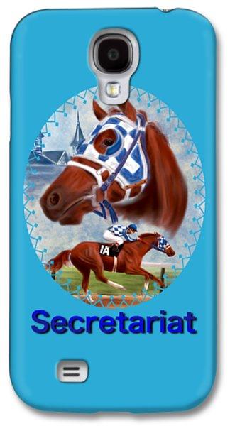 Secretariat Racehorse Portrait Galaxy S4 Case