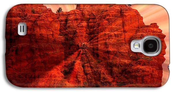 Sedona Sunset Energy - Abstract Art Galaxy S4 Case by Carol Groenen