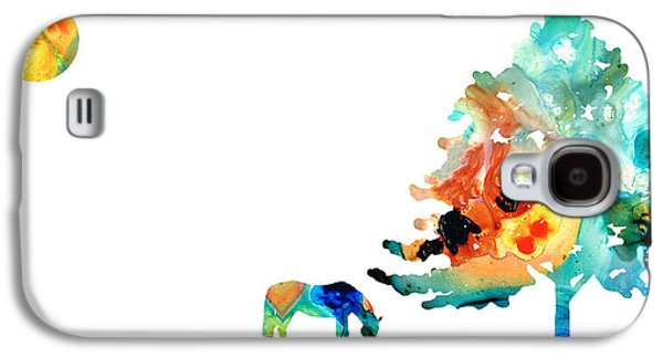 Seeking Shelter - Colorful Horse Art Painting Galaxy S4 Case by Sharon Cummings