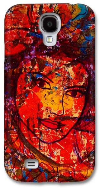 Self-portrait-5 Galaxy S4 Case by Natalie Holland
