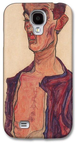 Self-portrait, Grimacing Galaxy S4 Case by Egon Schiele