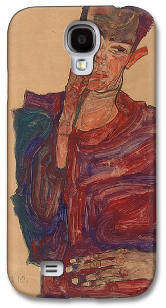 Self-portrait With Eyelid Pulled Down Galaxy S4 Case by Egon Schiele