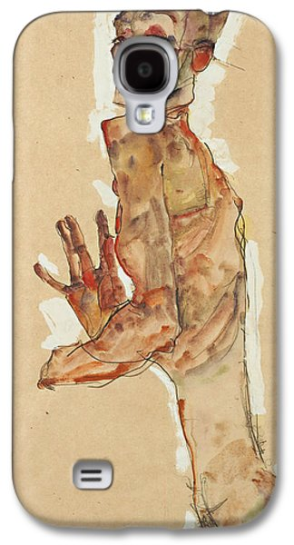 Self-portrait With Splayed Fingers Galaxy S4 Case by Egon Schiele