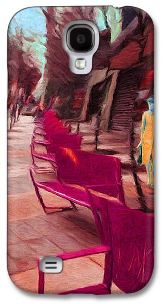 Senoidal Perspective With A Lady And Her Dog Galaxy S4 Case