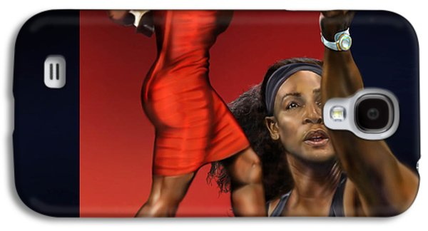Serena Williams Galaxy S4 Case - Sensuality Under Extreme Power - Serena The Shape Of Things To Come by Reggie Duffie