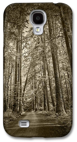 Sepia Tone Of A Rain Forest Dirt Road Galaxy S4 Case by Randall Nyhof