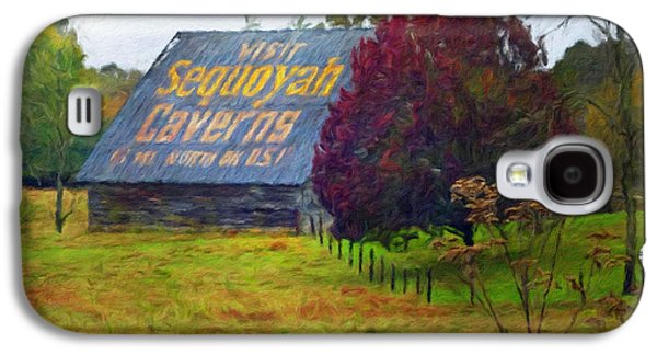 Sequoyah Caverns Sign Old Barn Galaxy S4 Case
