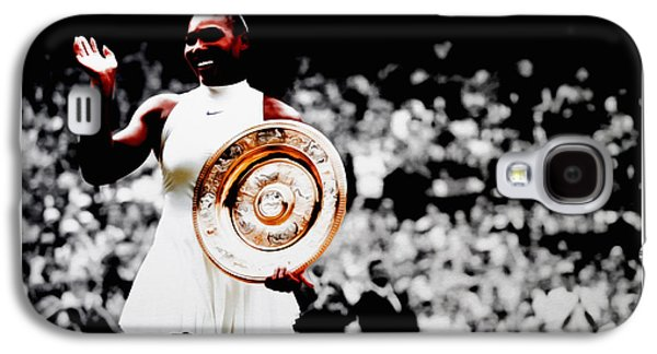 Serena 2016 Wimbledon Victory Galaxy S4 Case by Brian Reaves