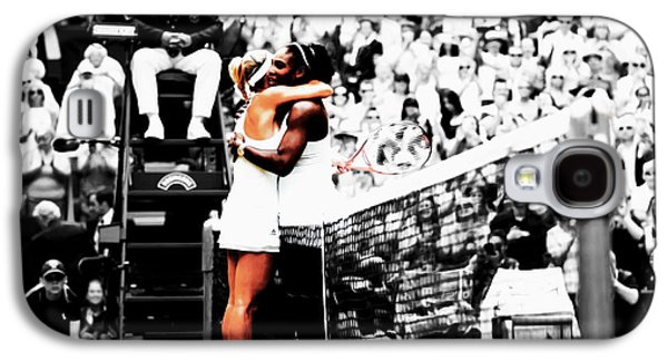 Serena Williams And Angelique Kerber 1a Galaxy S4 Case by Brian Reaves