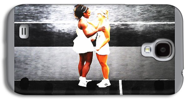 Serena Williams And Angelique Kerber 3a Galaxy S4 Case by Brian Reaves