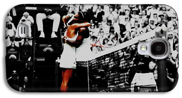 Serena Williams And Angelique Kerber Galaxy S4 Case by Brian Reaves