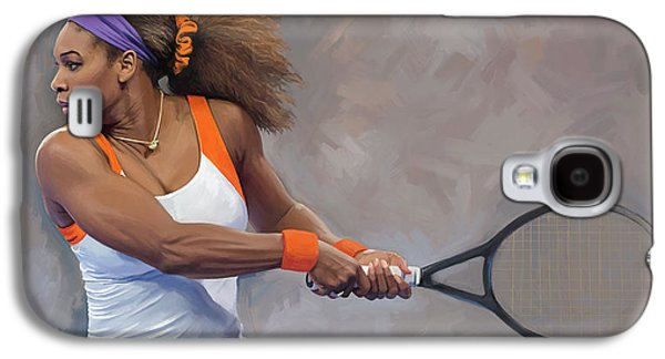 Serena Williams Galaxy S4 Case - Serena Williams Artwork by Sheraz A
