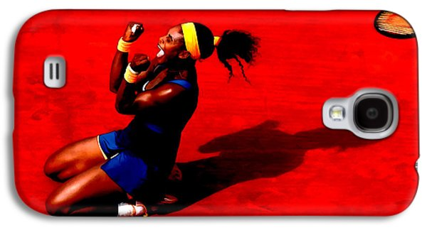 Serena Williams French Open Victory Galaxy S4 Case by Brian Reaves