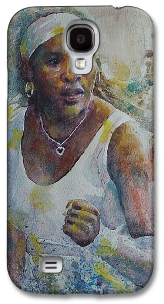 Serena Williams - Portrait 5 Galaxy S4 Case by Baresh Kebar - Kibar