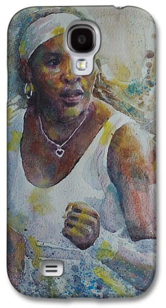 Serena Williams Galaxy S4 Case - Serena Williams - Portrait 5 by Baris Kibar
