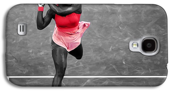 Serena Williams Strong Return Galaxy S4 Case by Brian Reaves