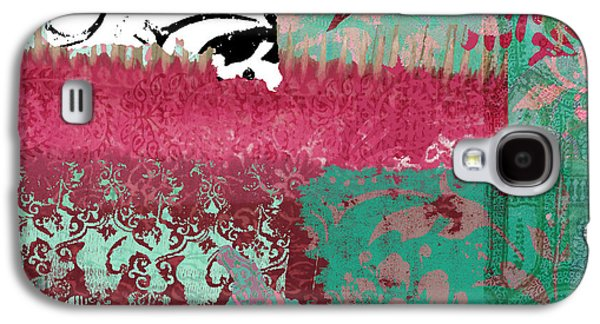 Serendipity Damask Batik I Galaxy S4 Case by Mindy Sommers