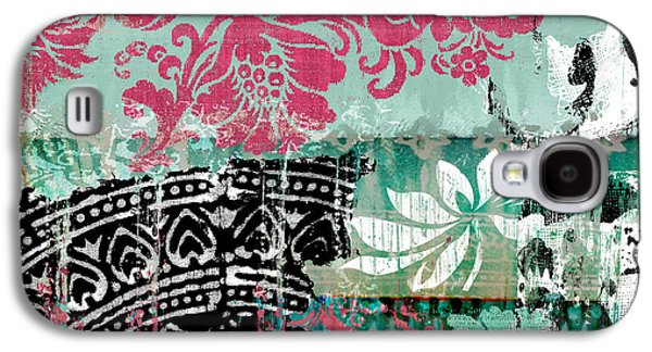 Serendipity Damask Batik II Galaxy S4 Case by Mindy Sommers
