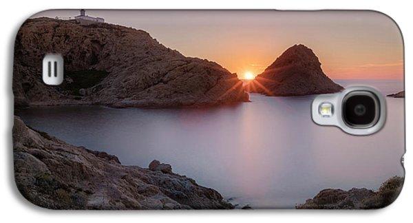 setting sun at L'Ile Rousse - Corsica Galaxy S4 Case