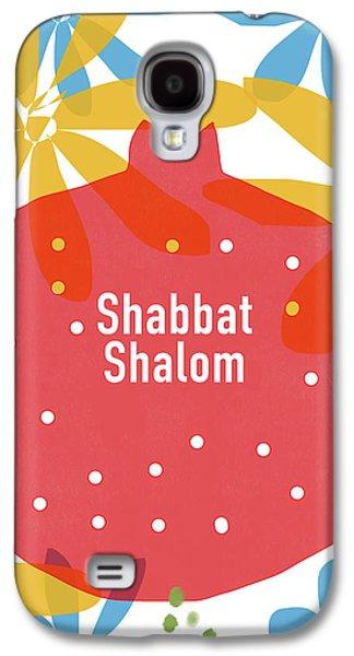 Shabbat Shalom Pomegranate- Art By Linda Woods Galaxy S4 Case by Linda Woods