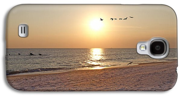 Shackleford Banks Sunset Galaxy S4 Case by Betsy Knapp