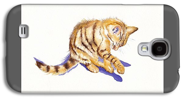 Cat Galaxy S4 Case - Shadow Boxing by Debra Hall