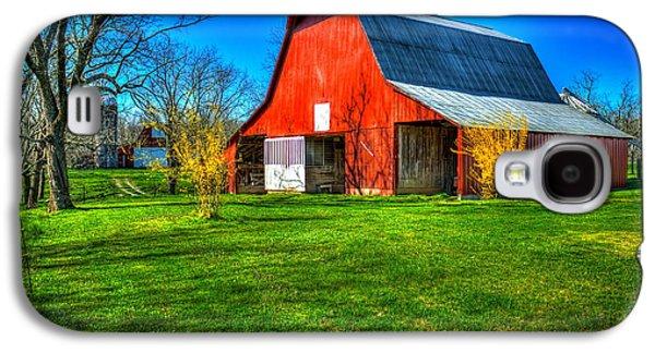 Shadows On The Barn Tennessee Farm Art Galaxy S4 Case by Reid Callaway