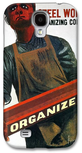 Working Class Galaxy S4 Cases - Shahn: Steel Union Poster Galaxy S4 Case by Granger