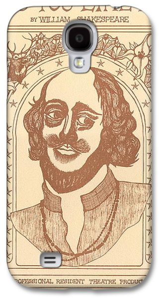 Shakespeare Galaxy S4 Case by Jeff Quiros