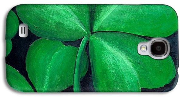 Shamrocks Galaxy S4 Case by Nancy Mueller