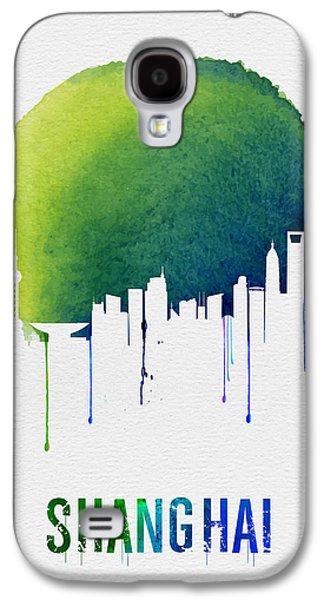 Shanghai Skyline Blue Galaxy S4 Case by Naxart Studio