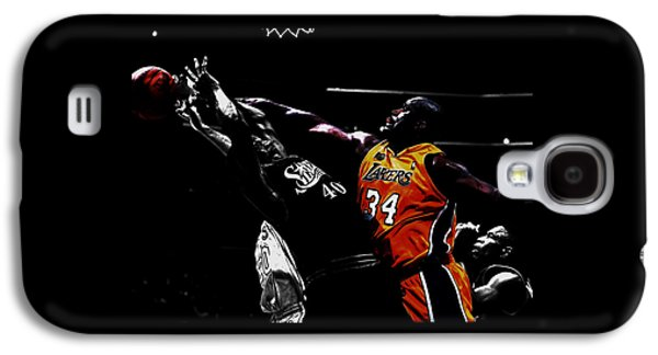Shaq Protecting The Paint Galaxy S4 Case by Brian Reaves
