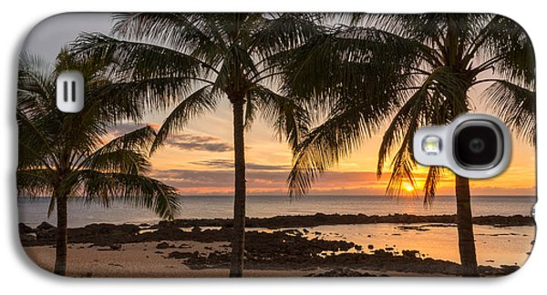 Sharks Cove Sunset 3 - Oahu Hawaii Galaxy S4 Case by Brian Harig
