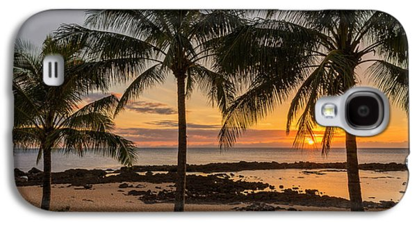 Sharks Galaxy S4 Case - Sharks Cove Sunset 4 - Oahu Hawaii by Brian Harig