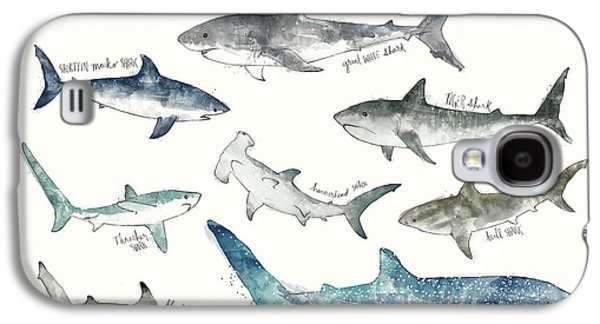 Sharks - Landscape Format Galaxy S4 Case by Amy Hamilton