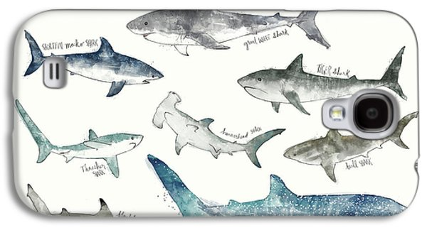 Sharks Galaxy S4 Case - Sharks - Landscape Format by Amy Hamilton