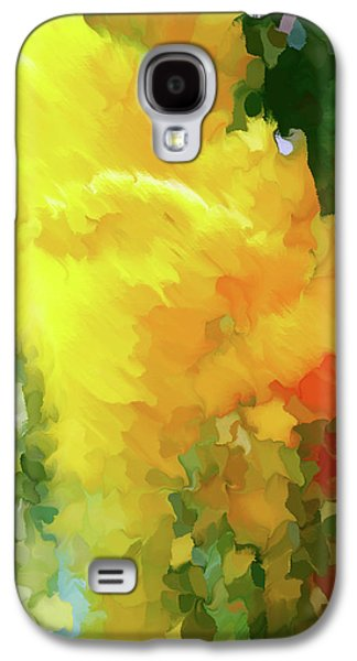 Shattered Lily Abstract Grunge Galaxy S4 Case