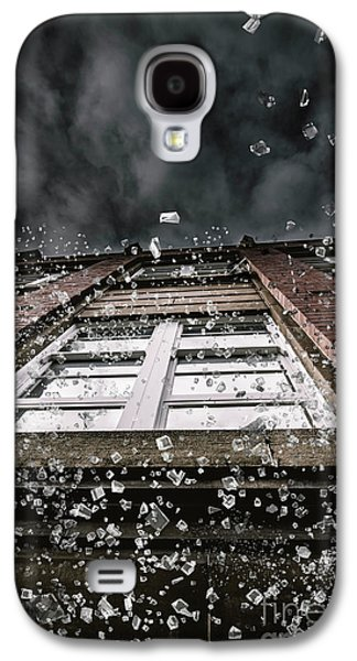 Shattering Pieces Of Glass Falling From Window Galaxy S4 Case by Jorgo Photography - Wall Art Gallery
