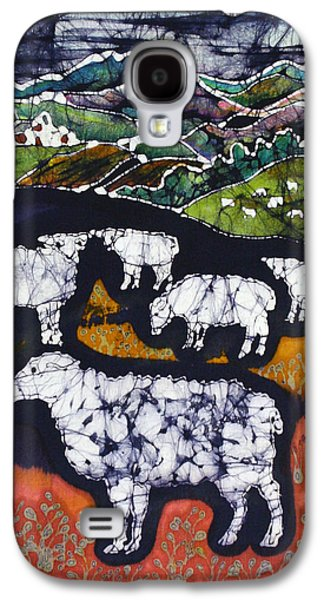 Village Tapestries - Textiles Galaxy S4 Cases - Sheep at Midnight Galaxy S4 Case by Carol  Law Conklin