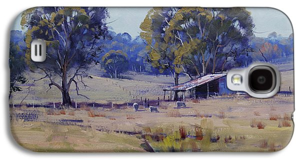 Sheep Farm Landscape Galaxy S4 Case by Graham Gercken