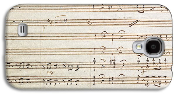 Sheet Music For The Barber Of Seville By Rossini  Galaxy S4 Case by Gioachino Rossini