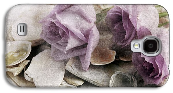 Shells And Roses Galaxy S4 Case by Janet Duffey